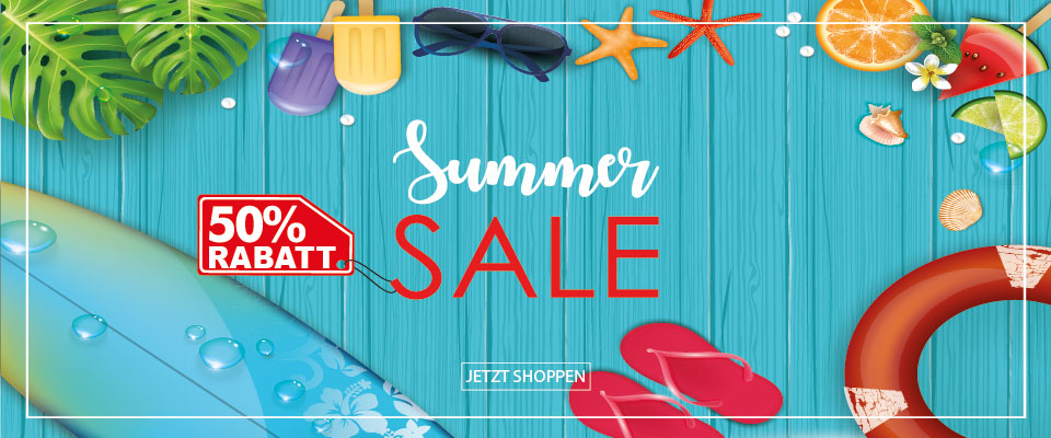 Summer Sale -50% Rabatt